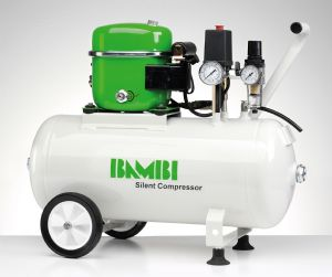Bambi BB24  air compressor with wheels